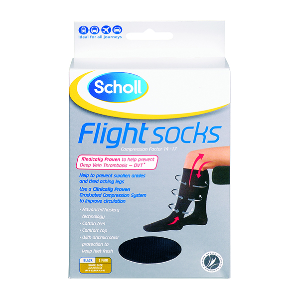 SCHOLL Flight Socks Mens Black